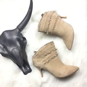 🆕 Anthropologie X Jeffrey Campbell Booties Suede